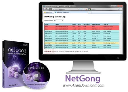 دانلود NetGong v8.3 Build 915 - نرم افزار مانیتورینگ شبکه