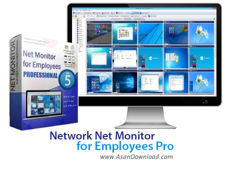 دانلود Net Monitor for Employees Pro v5.5.11 - نرم افزار مدیریت کلاینت ها در شبکه