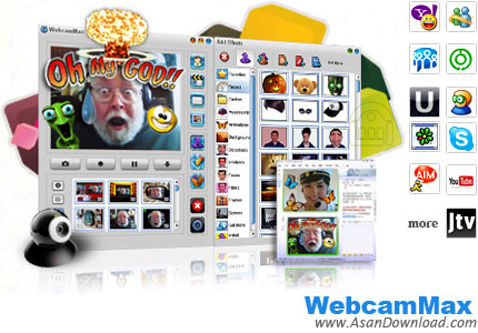 دانلود WebcamMax v8.0.7.8 - نرم افزار ایجاد وب كم مجازی با هزارن افکت جالب و جذاب