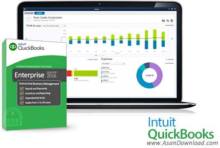 دانلود Intuit QuickBooks Enterprise Accountant 2016 v16.0 + Desktop Pro 2016 v16.0 R3 - نرم افزار حسابداری
