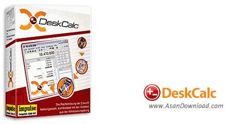 دانلود DeskCalc Pro v8.1.1 - نرم افزار ماشین حساب پیشرفته