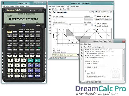 دانلود DreamCalc Professional Edition v4.9.0 - نرم افزار ماشین حساب علمی