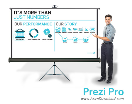 دانلود Prezi Pro v5.2.8 - نرم افزار ساخت ارائه و اسلایدشوهای حرفه ای