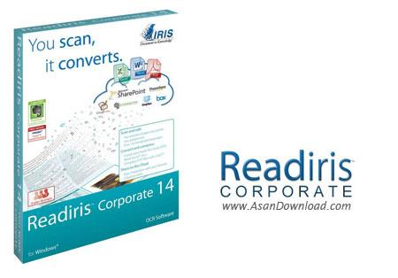 دانلود Readiris Corporate v16.0.0 Build 9472 Middle Eastern + Pro v16.0.2 Build 9592 - نرم افزار تبدیل عکس به متن تایپ شده (OCR) با پشتیبانی از زبان فارسی
