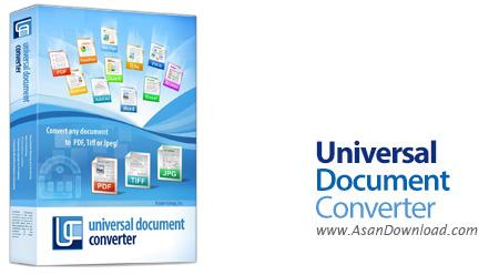 دانلود Universal Document Converter v6.7.1611.5140 - نرم افزار تبدیل اسناد مختلف به پی دی اف و عکس