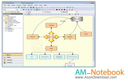 دانلود AM-Notebook Pro v6.3 - نرم افزار ذخیره و مدیریت اطلاعات شخصی