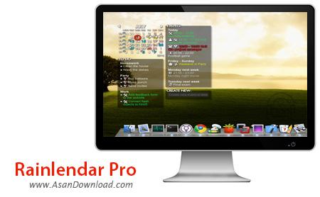 دانلود Rainlendar Pro v2.14.2 Build 157 - نرم افزار یادآوری کارهای روزمره