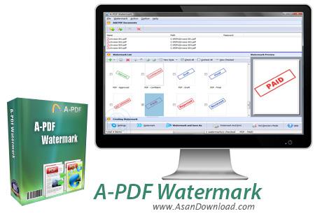 دانلود A-PDF Watermark v4.7.6 - نرم افزار نشانه گذاری روی اسناد PDF