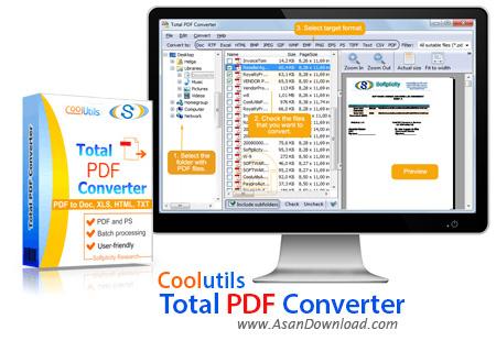 دانلود Coolutils Total PDF Converter v6.1.0.140 - نرم افزار مبدل فرمت PDF