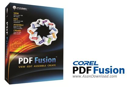 دانلود Corel PDF Fusion v1.11 - نرم افزار ایجاد، ویرایش و تبدیل فایل های پی دی اف