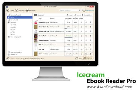 دانلود Icecream Ebook Reader Pro v5.07 - نرم افزار مدیریت کتاب های الکترونیکی