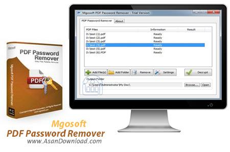 دانلود Mgosoft PDF Password Remover v9.6.3 - نرم افزار حذف پسورد اسناد PDF