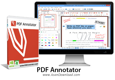 دانلود PDF Annotator v7.0.0.701 - نرم افزار نشانه و علامت گذاری روی فایل های پی دی اف