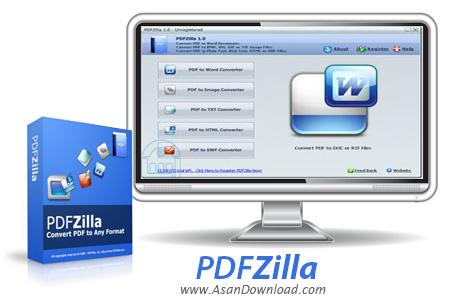 دانلود PDFZilla v3.8.9 - نرم افزار تبدیل پی دی اف به دیگر فرمت ها