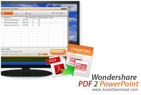 دانلود Wondershare PDF to PowerPoint v2.0.0 - نرم افزار تبدیل PDF به اسلایدشو Powerpoint