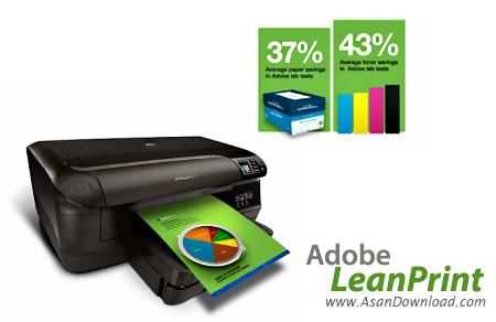 دانلود Adobe LeanPrint v1.0 x86/x64 - نرم افزار کاهش مصرف جوهر چاپگر