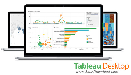 دانلود Tableau Desktop Pro v10.5.0 - نرم افزار تجزیه و تحلیل فرآیند ها با رسم نمودار های داده