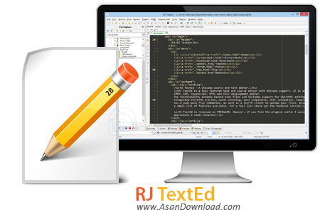 دانلود RJ TextEd v9.0 - نرم افزار ویرایش متون و سورس فایل
