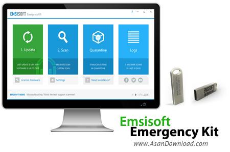 دانلود Emsisoft Emergency Kit v2018.6.0.8742 - نرم افزار حذف بدافزارها