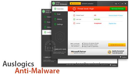 دانلود Auslogics Anti-Malware v1.5.2.0 - نرم افزار مقابله با بدافزارها