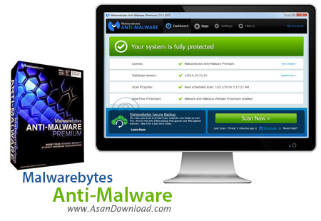دانلود Malwarebytes Anti-Malware Premium v2.1.6.1022 - نرم افزار شناسایی و حذف نرم افزارهای مخرب