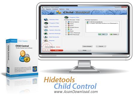 دانلود Hidetools Child Control v5.7 - نرم افزار مدیریت فرزندان در استفاده از رایانه