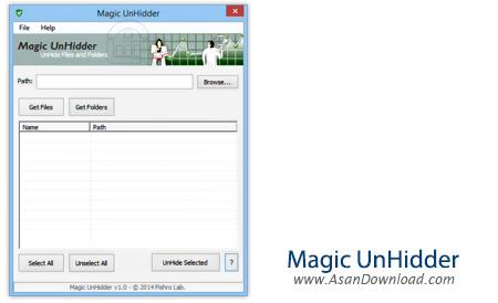 دانلود Magic UnHidder v1.0 - نرم افزار بازگردانی اطلاعات مخفی شده توسط ویروس ها