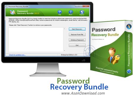 دانلود Password Recovery Bundle 2018 Enterprise v4.6 - نرم افزار بازیابی پسوردها
