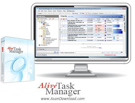 دانلود Alive Task Manager v1.10 - نرم افزار برنامه ریزی و مدیریت زمانبندی ها