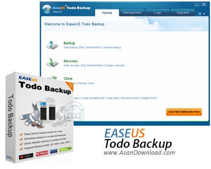 دانلود EaseUS Todo Backup Technician v11.5.0.0 + Server v12.0.0.2 - تهیه نسخه پشتیبان از فایل ها