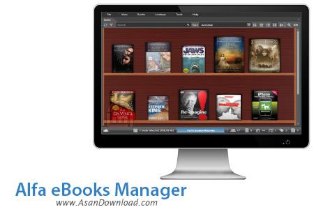 دانلود Alfa eBooks Manager Premium v6.4.4.1 - نرم افزار مدیریت کتاب های الکترونیکی