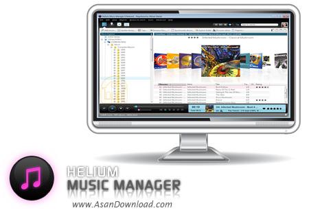 دانلود Helium Music Manager v12.3 Build 14588 - نرم افزار مدیریت و دسته بندی موزیک ها