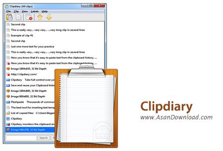 دانلود ClipDiary v4.0 - نرم افزار مدیریت حافظه کلیپ بورد