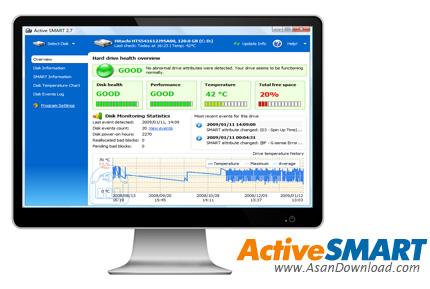 دانلود ActiveSMART v2.97.144 - نرم افزار اسکن و عیب یابی هارد دیسک