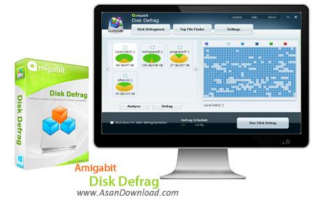 دانلود Amigabit Disk Defrag v1.0.1.0 - نرم افزار یکپارچه سازی هارددیسک