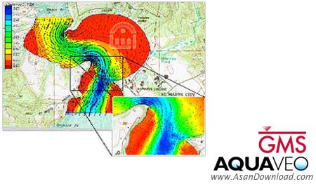 دانلود Aquaveo GMS Premium v10.1.4 x86/x64 - نرم افزار مدل سازی حوزه های آب خیز و آب های زیر زمینی