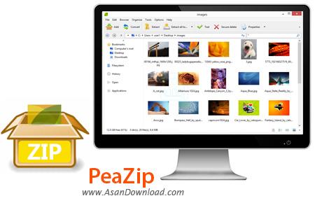[نرم افزار] دانلود PeaZip v6.5.1 - نرم افزار فشرده سازی فایل و فولدر