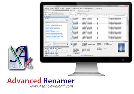 دانلود Advanced Renamer v3.85 - نرم افزار تغییر نام دسته ای فایل ها