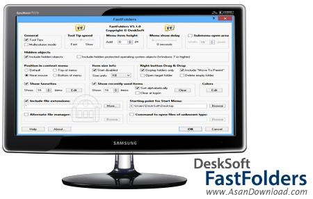 دانلود DeskSoft FastFolders v5.0.0 - نرم افزار دسترسی سریع به محتویات فولدرها