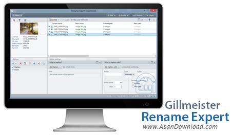 دانلود Gillmeister Rename Expert v5.18.0 - نرم افزار تغییر نام دسته ای فایل ها