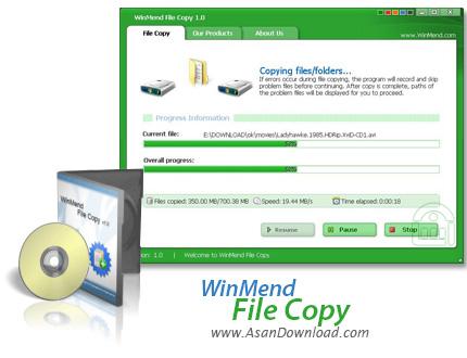 دانلود WinMend File Copy v2.4.0 - نرم افزار افزایش سرعت کپی فایل