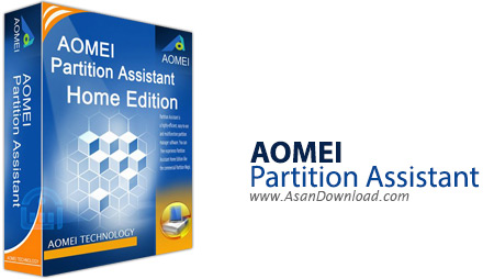 دانلود AOMEI Partition Assistant Pro v9.1 - نرم افزار پارتیشن بندی، تغییر سایز پارتیشن و مدیریت هارد