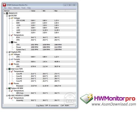 دانلود CPUID HWMonitor Pro v1.30 + Free v 1.33 - نرم افزاری برای نمایش اطلاعات سیستم