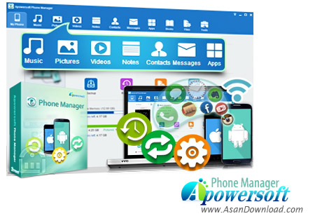 دانلود Apowersoft Phone Manager PRO v3.1.8 - نرم افزار مدیریت گوشی های اندورید و iOS