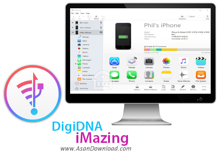 دانلود DigiDNA iMazing v2.11.4 - نرم افزار تبادل اطلاعات با سیستم عامل iOS
