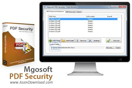 دانلود Mgosoft PDF Security v9.2.368 - نرم افزار ایمن سازی اسناد PDF
