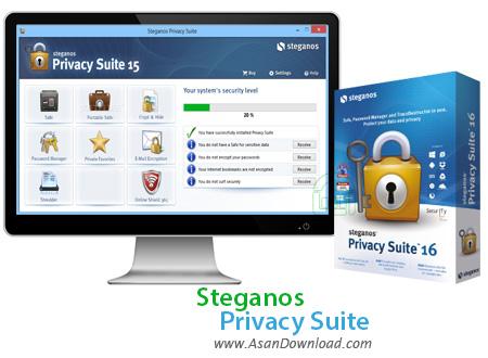 دانلود Steganos Privacy Suite v18.0.2 Revision 12068 - نرم افزار رمزگذاری اطلاعات