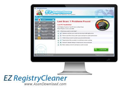 دانلود EzRegistryCleaner v3.1.2 - نرم افزار بهینه سازی و پاکسازی رجیستری