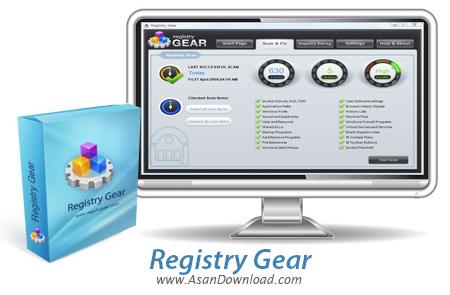 دانلود Registry Gear v2.0.6.505 - نرم افزار بهینه سازی رجیستری