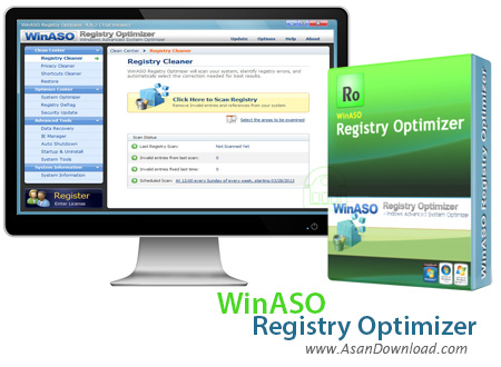 دانلود WinASO Registry Optimizer v5.3.0.0 - نرم افزار بهینه ساز رجیستری
